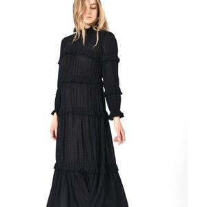 ISABEL MARANT ETOILE Yukio Swiss Dot Dress 34 2